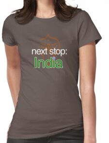 AROUND THE WORLD: India Womens Fitted T-Shirt