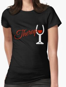 Wine Therapy Womens Fitted T-Shirt