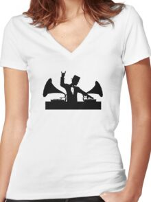 Let's Party Like It's... 1923! ...Rock On! Women's Fitted V-Neck T-Shirt