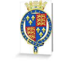 Coat of Arms of the Kingdom of England (1399-1603) Greeting Card