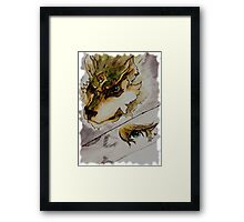 The Twilight Wolf (Faded) Framed Print