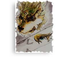 The Twilight Wolf (Faded) Canvas Print