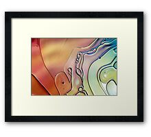 Rainbow Swirls Framed Print