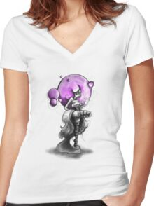 Rainbow Punk: Psychedelic Purple Women's Fitted V-Neck T-Shirt