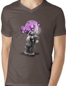 Rainbow Punk: Psychedelic Purple Mens V-Neck T-Shirt