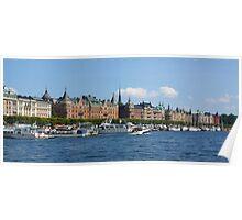 Strandvägen from the Water Poster