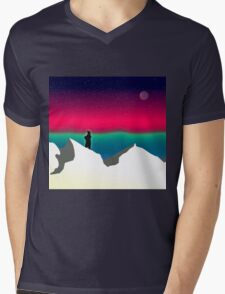 Northern Light Mens V-Neck T-Shirt