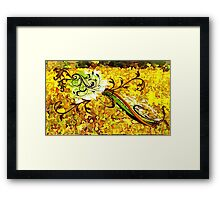 Fall Floral Fancy Framed Print