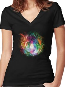 Flower Women's Fitted V-Neck T-Shirt