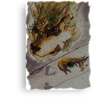 The Twilight Wolf  2 Canvas Print