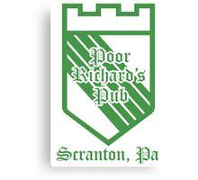Scranton Pub Green Canvas Print