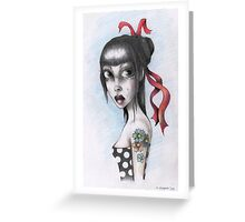 GIRL WITH TATTOO Greeting Card