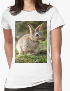 Cute Wild Leveret Curiosity Womens Fitted T-Shirt