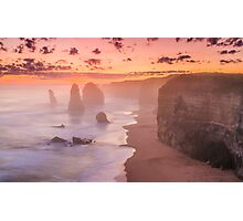 Misty sunset at the twelve apostles Photographic Print