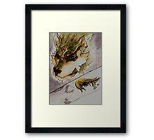 The Twilight Wolf   Framed Print