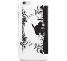 Alice's Adventures in Wonderland Black and White Illustrated Quote iPhone Case/Skin