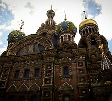 St Petersburg - Church of Our Savior on Spilled Blood by Derek  Rogers