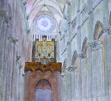 Amiens Cathedral by John Rees by HurstPainters