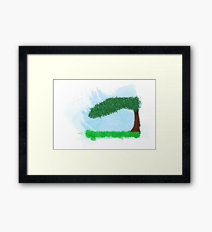 Landscape of calm Framed Print