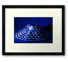 Blue Bike Cassette Gears Framed Print