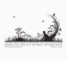 Secret Garden Black and White Illustrated Quote Kids Clothes