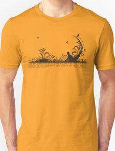 Secret Garden Black and White Illustrated Quote Unisex T-Shirt