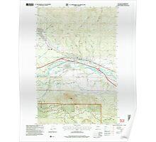 USGS Topo Map Washington State WA Cle Elum 240564 2003 24000 Poster