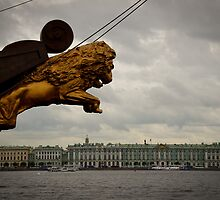 St Petersburg - View across the Neva River by Derek  Rogers