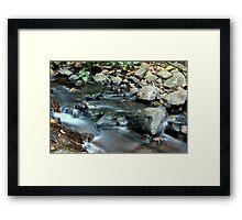 Slowing The Flow Framed Print