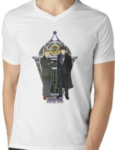 Sherlock Nouveau Mens V-Neck T-Shirt