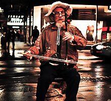 Erhu Player by Mark Knighton
