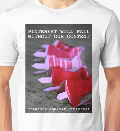 Creators Against Pinterest Unisex T-Shirt