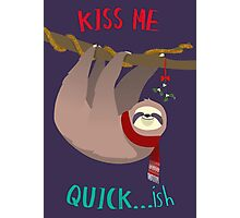 Kiss Me Quick...ish Photographic Print
