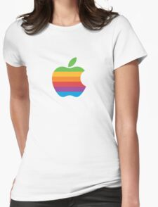 Apple Logo Rainbow Womens Fitted T-Shirt