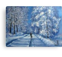 Witer walk together Canvas Print