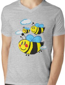 Family bee Mens V-Neck T-Shirt