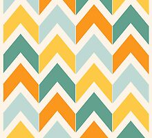 Citrus Chevrons by Beth Thompson