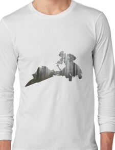 Star Wars Scout Trooper on Speeder Bike on Endor Long Sleeve T-Shirt