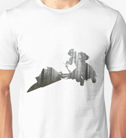 Star Wars Scout Trooper on Speeder Bike on Endor Unisex T-Shirt