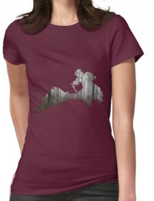 Star Wars Scout Trooper on Speeder Bike on Endor Womens Fitted T-Shirt