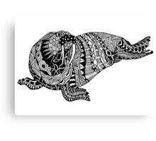 Walrus Drawing Canvas Print