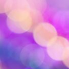Abstract pink purple circle pattern design by Mariannne Campolongo
