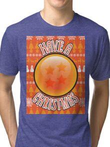 A 4 Star Christmas Tri-blend T-Shirt
