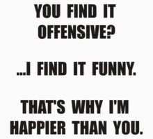 Offensive Happy Kids Clothes