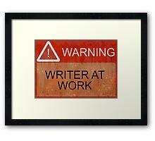 Writer At Work Framed Print