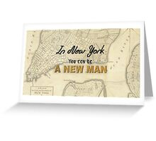 New York - New Man Greeting Card