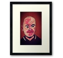 WANNA SCHLAP? - from the 'stenders range'   Framed Print