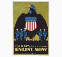 The Navy is calling Enlist now Kids Tee