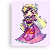 Wind Waker Zelda - Colored Pencil Canvas Print