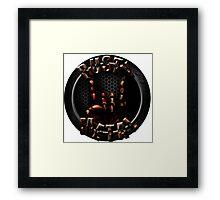 Rusty Metal Band Logo (Circle) Framed Print
